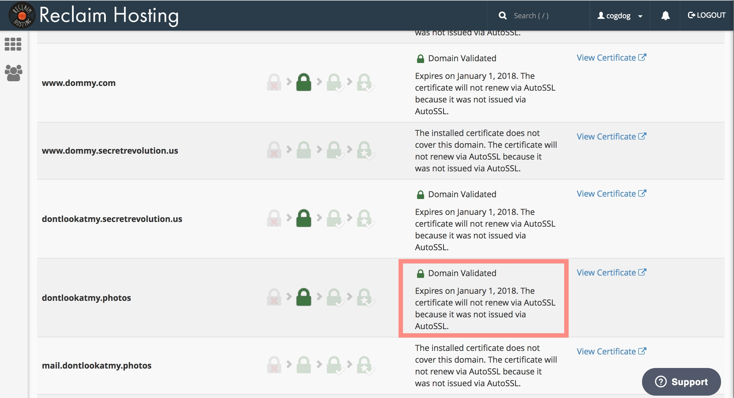 How To Renew Ssl Certificates Questions Reclaim Hosting Community