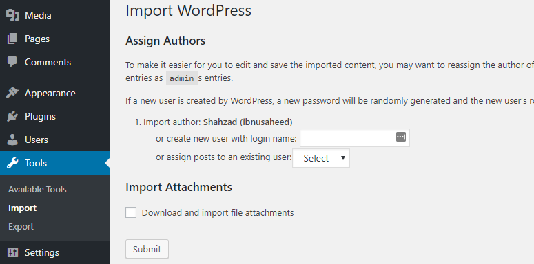 import-wordpress-and-assign-authors